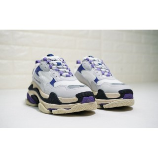 Balenciaga Wmns Triple S Trainer 'White Navy Purple' (36-41)