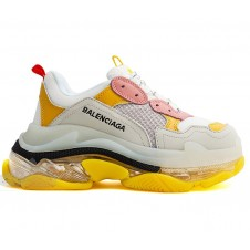 Balenciaga Wmns Triple S Trainer 'Grey Yellow Clear Sole' (36-41)