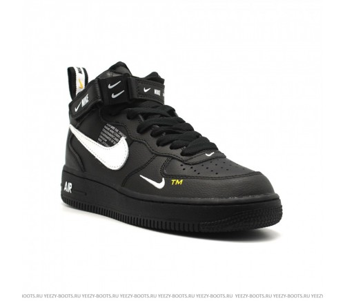 NIKE AIR FORCE 1 07 MID LV8 черные